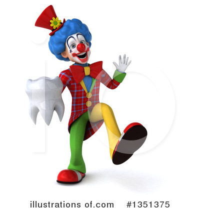 Colorful Clown Clipart #1351375 by Julos