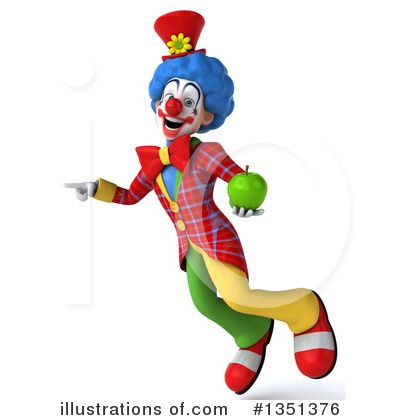Colorful Clown Clipart #1351376 by Julos