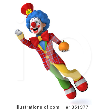 Colorful Clown Clipart #1351377 by Julos