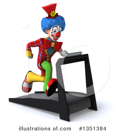 Colorful Clown Clipart #1351384 by Julos