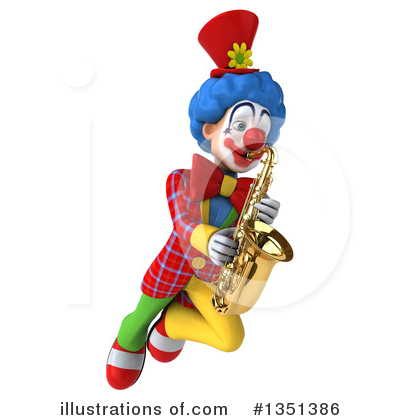 Colorful Clown Clipart #1351386 by Julos