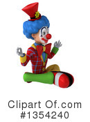 Colorful Clown Clipart #1354240 by Julos