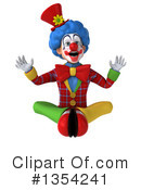 Colorful Clown Clipart #1354241 by Julos