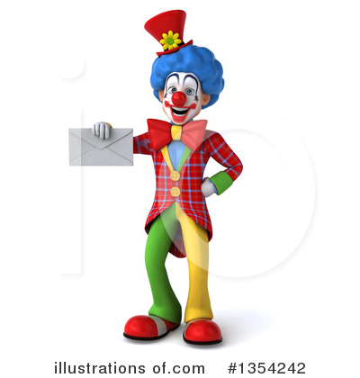 Colorful Clown Clipart #1354242 by Julos