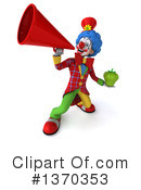Colorful Clown Clipart #1370353 by Julos