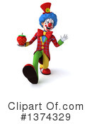 Colorful Clown Clipart #1374329 by Julos