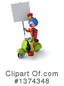 Colorful Clown Clipart #1374348 by Julos