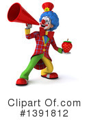 Colorful Clown Clipart #1391812 by Julos