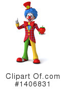 Colorful Clown Clipart #1406831 by Julos
