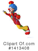 Colorful Clown Clipart #1413408 by Julos