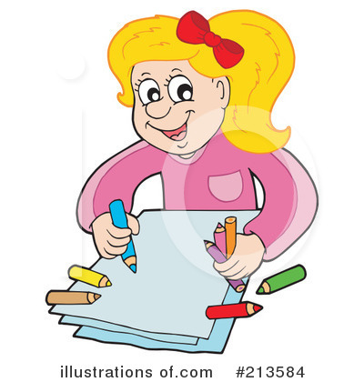 Child Coloring Clipart Royalty Free RF