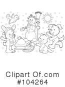 Coloring Page Clipart #104264 by Alex Bannykh