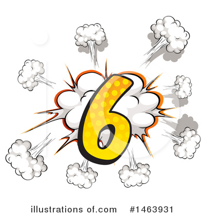 Comic Number Clipart #1463931 by Graphics RF