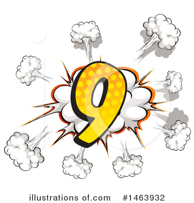 Comic Number Clipart #1463932 by Graphics RF
