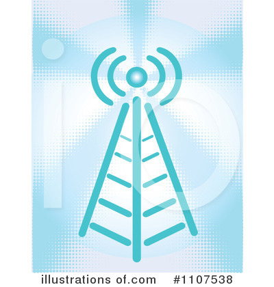 Communications Tower Clipart #1107538 by Amanda Kate