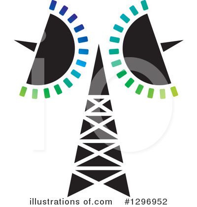 Royalty-Free (RF) Communications Tower Clipart Illustration by Lal Perera - Stock Sample #1296952