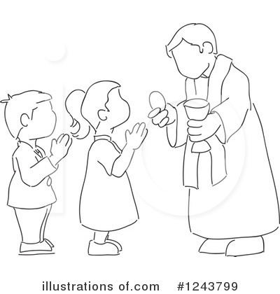 Communion Clipart #1243799 by David Rey