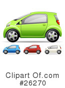 Royalty-Free (RF) Compact Car Clipart Illustration #26270