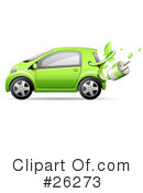 Royalty-Free (RF) Compact Car Clipart Illustration #26273