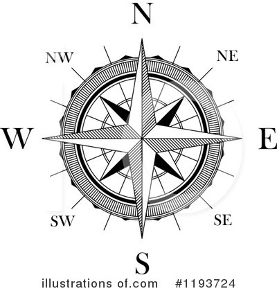 Compass Clipart #1193724 - Illustration by Vector Tradition SM