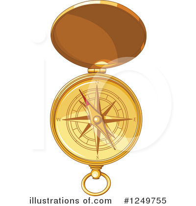 Royalty-Free (RF) Compass Clipart Illustration by Pushkin - Stock Sample #1249755