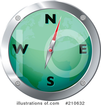 Compass Clipart #210632 by michaeltravers
