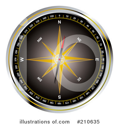 Compass Clipart #210635 by michaeltravers