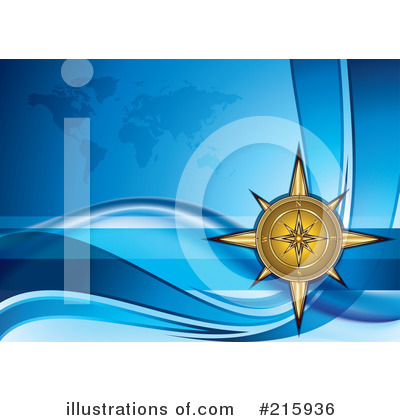Royalty-Free (RF) Compass Clipart Illustration by MilsiArt - Stock Sample #215936