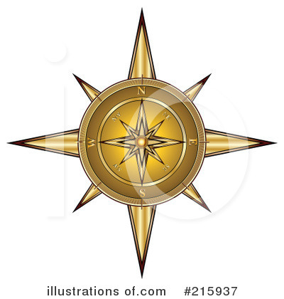 Royalty-Free (RF) Compass Clipart Illustration by MilsiArt - Stock Sample #215937