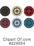 Royalty-Free (RF) Compass Clipart Illustration #229554