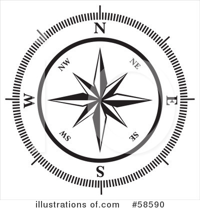 Compass Clipart #58590 by MilsiArt