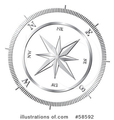 Compass Clipart #58592 by MilsiArt