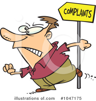 Royalty-Free (RF) Complaint Clipart Illustration by toonaday - Stock Sample #1047175