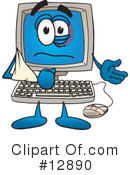 Computer Character Clipart #12890 by Toons4Biz