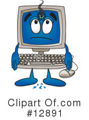 Computer Character Clipart #12891 by Toons4Biz