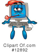 Royalty-Free (RF) computer character Clipart Illustration #12892