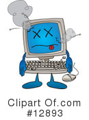 Computer Character Clipart #12893 by Toons4Biz