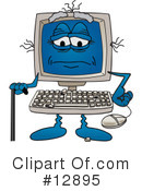 Computer Character Clipart #12895 by Toons4Biz