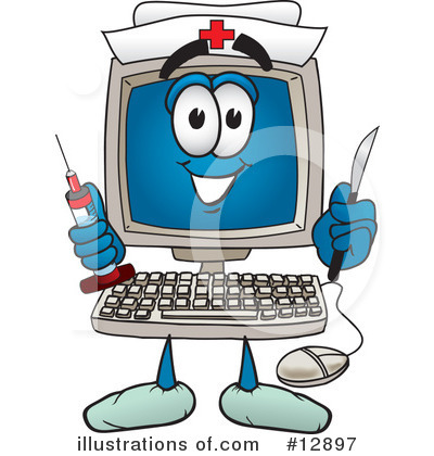 Computer Character Clipart #12897 by Toons4Biz