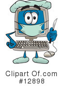 Computer Character Clipart #12898 by Toons4Biz