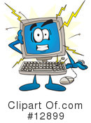 Royalty-Free (RF) computer character Clipart Illustration #12899