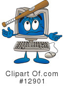 Computer Character Clipart #12901 by Toons4Biz