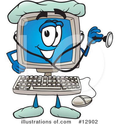 Royalty-Free (RF) Computer Character Clipart Illustration by Toons4Biz - Stock Sample #12902