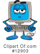 Computer Character Clipart #12903 by Toons4Biz