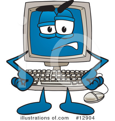 Computer Character Clipart #12904 by Toons4Biz