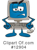 Royalty-Free (RF) computer character Clipart Illustration #12904