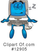 Royalty-Free (RF) computer character Clipart Illustration #12905