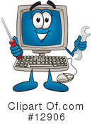 Computer Character Clipart #12906 by Toons4Biz