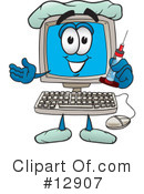 Royalty-Free (RF) computer character Clipart Illustration #12907