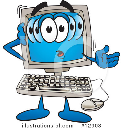 Royalty-Free (RF) Computer Character Clipart Illustration by Toons4Biz - Stock Sample #12908